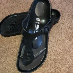 NEW not worn Birkenstock Gizeh Eva black